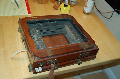 NICE Vintage 8x10 10x12 view camera needs bellows Repair and glass Deardorff?