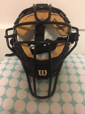 Wilson Dyna-Lite Steel Baseball Umpire's Mask - Black / Tan (NEW) Lists @ $80