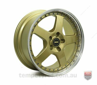 FORD  FALCON AU TO BF WHEELS PACKAGE: 18x8.5 18x9.5 Simmons FR-1 Gold and Kumho