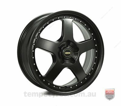 FORD  FALCON PRE AU WHEELS PACKAGE: 18x7.0 18x8.5 Simmons FR-1 Satin Black and K