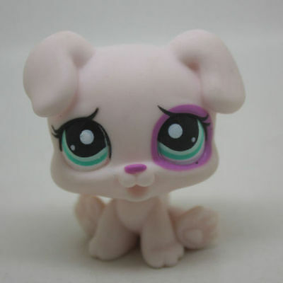 Littlest Pet Shop Dog Collection loose cute Action Figure Toy White & Pink Boxer