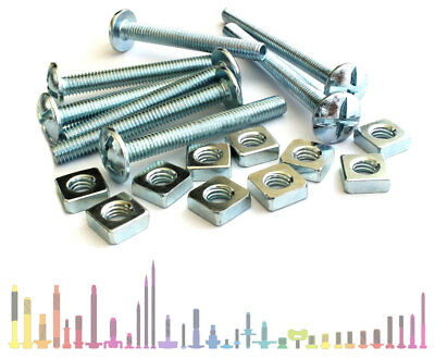 M5 M6 M8 M10 Cross Slotted Dome Head Roofing Bolts with Square Nuts
