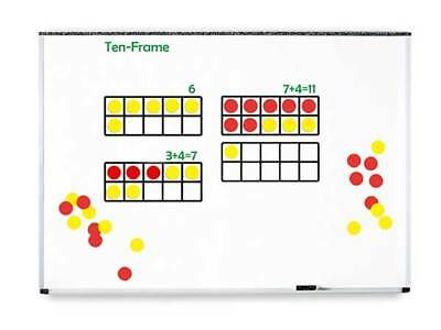 Large Tens Frame Magnetic 44 Pieces Maths Teacher Resource Place Value