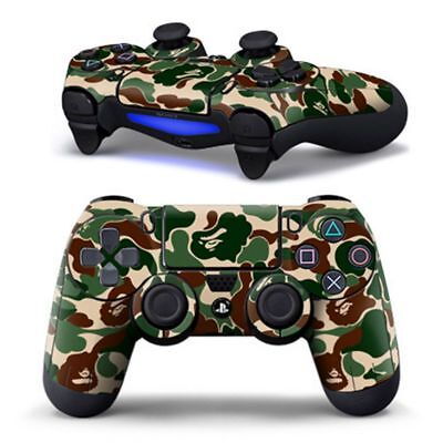PS4 Wireless Controller Decal Custom Personalised Camouflage Green Sticker Skin