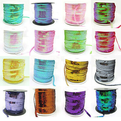 5 yards 6mm DIY Faceted loose sequins Paillettes sewing Wedding Craft