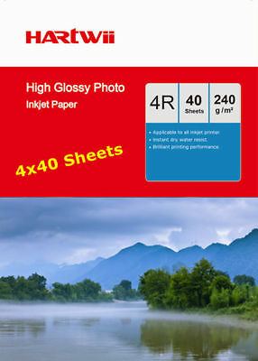 4x6 Inkjet Paper Photo Paper High Glossy 230 240Gsm Hartwii AU - 160 Sheets 6x4""