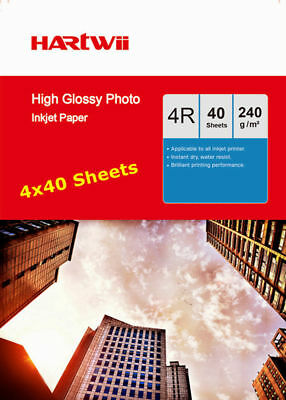 6x4 Inkjet Photo Paper High Glossy 230 240Gsm Hartwii AU - 160 Sheets 102x152mm