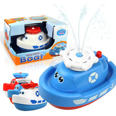 Kids Electric Spray Bathtub Water Electric Rotating Water Jet Boat Bath Toys