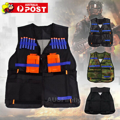 AU Adjustable Tactical Vest With Storage Pockets For Nerf N-Strike Elite Team