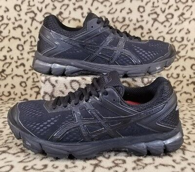 Asics Gel Gt 1000 4 Women's Athletic Running Shoes Size 7.5 All Black T5A7N