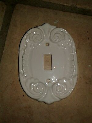 Vintage Ceramic Shabby Cottage White Decor SWITCH Plate Cover