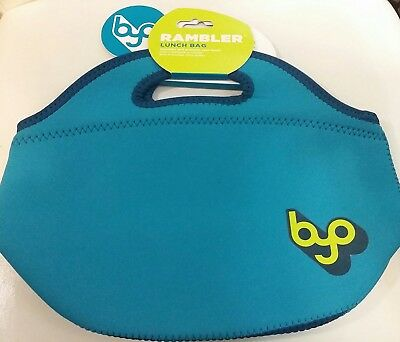(teal) - BUILT BYO Neoprene Rambler Insulated Lunch Tote Bag. Built NY