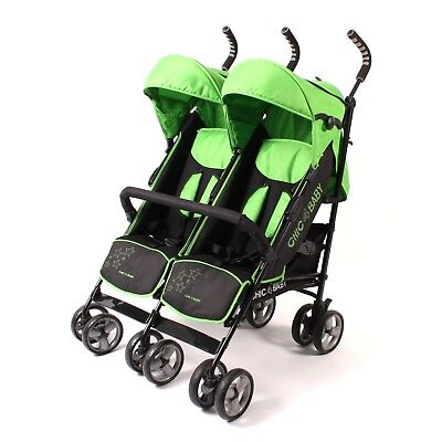 Chic 4 Baby Zwillingsbuggy Momo 324-47 Green Star TOP