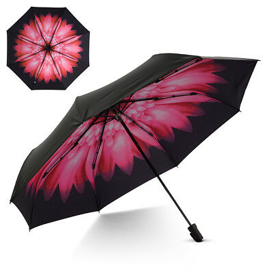 Small Travel UV Sun & Rain Umbrella UV Protection Screen Shade Compact Folding
