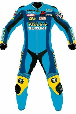 Rizla + MOTORBIKE MOTORCYCLE RACING LEATHER GENUINE COWHIDE SUIT ONE/TWO PIECE