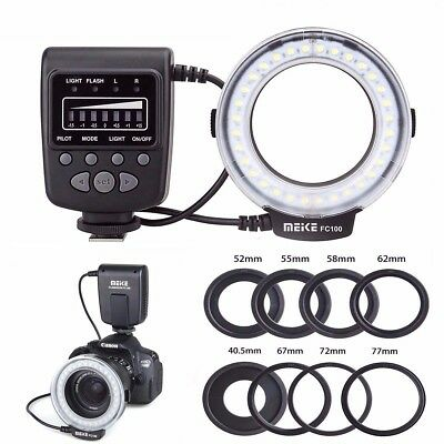 Meike FC-100 Macro Ring Flash/Light For Canon Nikon Olympus Panasonic Pentax