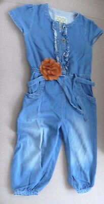 Next girls Denim Dungarees 3-4 years