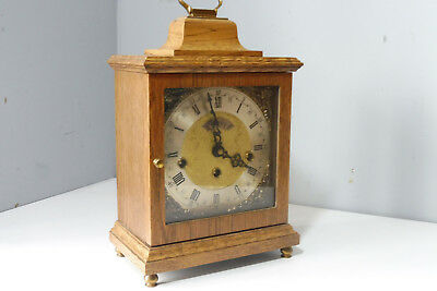 Warmink Wuba Table Clock in Oak Wood Westminster Chime Dutch Clock