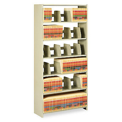 Tennsco Snap-Together Steel Six-Shelf Closed Starter Set 36w x 12d x 76h Sand