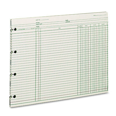 Wilson Jones Accounting 9-1/4 x 11-7/8 100 Loose Sheets/Pack GN2D