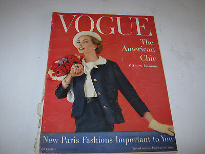 vpk / VOGUE US american , mar. 1957 Mode : in a NOT good condition    (228.)