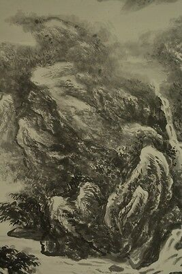 Hanging Scroll Chinese Painting Landscape Asian Art ink China Paper Bonsai a211