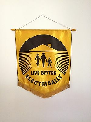"""LIVE BETTER ELECTRICALLY"" BANNER - FROM SUCCESSFUL 1950s/60s INDUSTRY CAMPAIGN"
