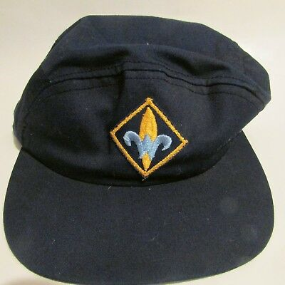 Bsa Boy Cub Scout Webelos Blue Hat Cap Size 6 3/4 Used Vintage Made In Usa
