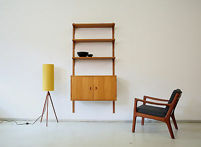 60er HANSEN & GULDBORG Teak REGALSYSTEM Wandregal DANISH 60s HG SHELVING UNIT