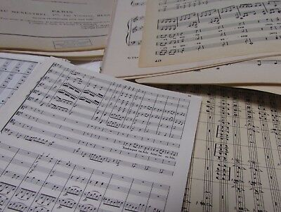 100g  Vintage Sheet Music Paper, Decoupage, Art Projects, Crafting, Shabbychic