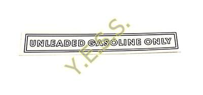 """180 """"UNLEADED GASOLINE ONLY"""" Decal"""