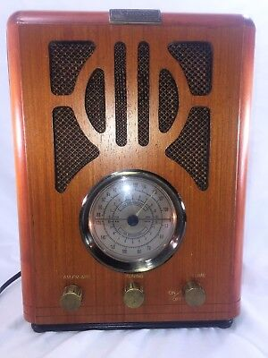 Vintage Style Reproduction Wooden Radio Antique Old Style AM FM Retro Issues