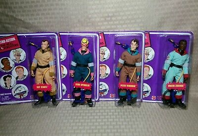 Lot of 4 Mattel Ghostbusters 8 Inch Ghostbusters Winston Egon Ray Peter Retro