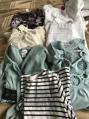 Lot Of 7 Maternity Blouse Motherhood/liz Lange Size medium /large