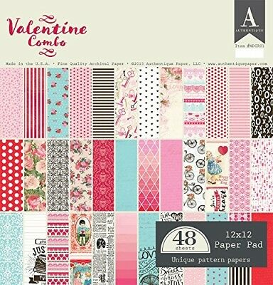 Authentique Valentine Combo 12x12 Paper Pad. Shipping Included