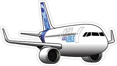 Airbus A320 NEO aircraft sticker