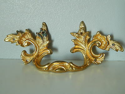 "Antique French ornate Gilt Bronze Handle Furniture 5.1/8"",Dresser Drawer 19th C"