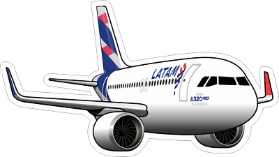 Airbus A320 NEO Latam aircraft sticker