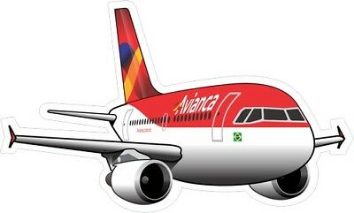 Airbus A319 Avianca Brasil Old Livery aircraft sticker