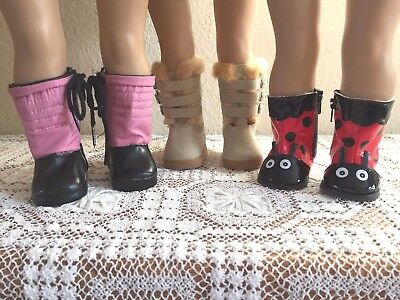 """NEW-DOLL BOOTS [3 Pairs] fit 18"""" Doll such as American Girl Dolls - Lot #298"""