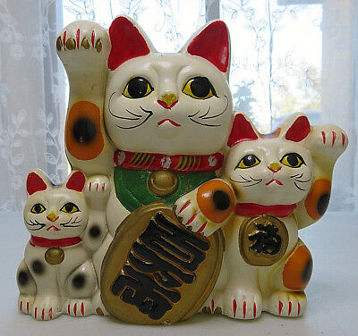 Japanese Neko Lucky Cat Piggy Bank Maneki Japan Ceramic