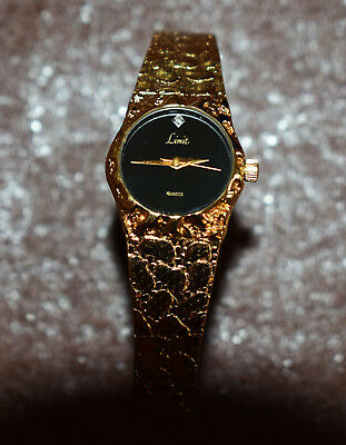 Ladies limit gold plated dress watch
