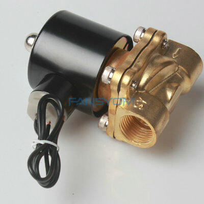 "New -XU 1/2"" Brass Electric Solenoid Valve 110V AC Water Air Normally Closed N/C"