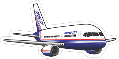 Boeing 757-200 aircraft sticker