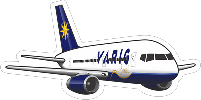 Boeing 757-200 Varig aircraft sticker