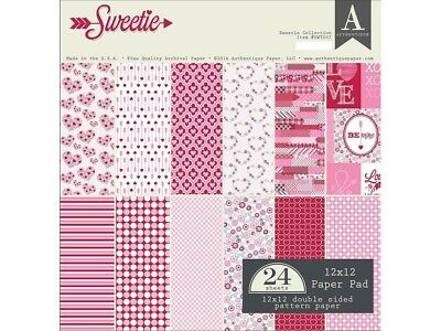 Authentique AUTSWT007 Sweetie Paper Pad 12x12. Shipping Included