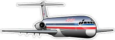 McDonnell Douglas MD-80 American Airlines aircraft sticker
