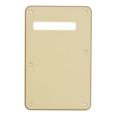 Cream 3ply Back Plate Tremolo Cavity Cover for Fender ST Guitar Trem Cover Parts