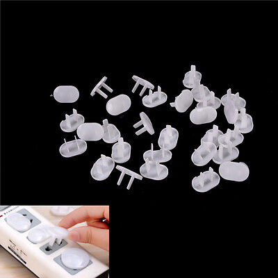 30 Pcs 2 Hole Power Socket Outlet Plug Protective Cover Baby Protector BLUJ