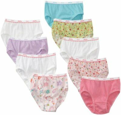 Hanes Big Girls' Brief, Assorted, 10 (Pack of 9)